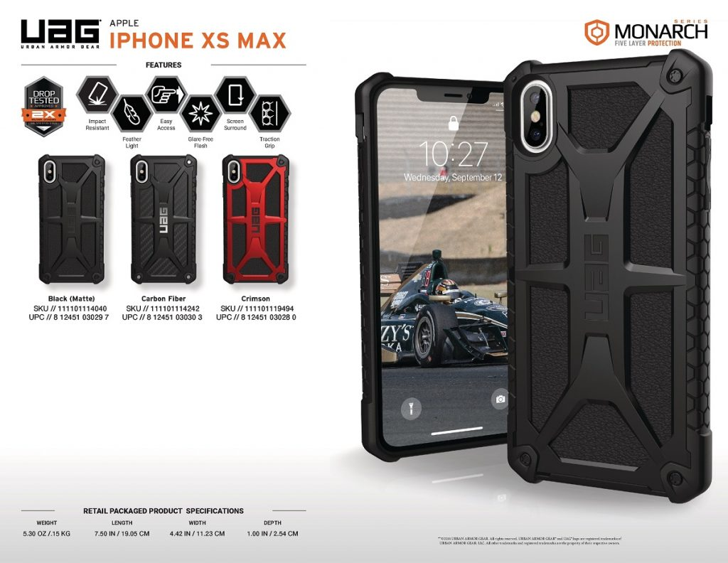 Op lung iPhone Xs Max UAG Monarch Fiber Carbon UAGVIETNAM 7