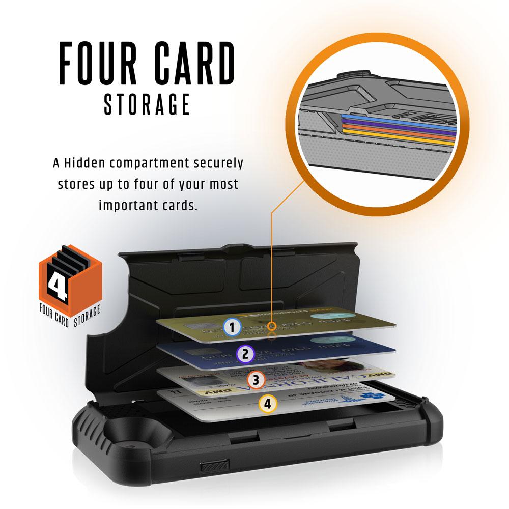 Op lung iPhone 8 7 6S Plus Trooper Black 4 CARD STORAGE