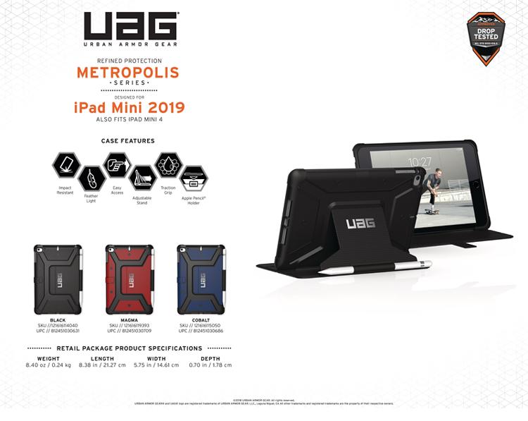 Bao da iPad Mini 2019 UAG Metropolis 01 bengovn