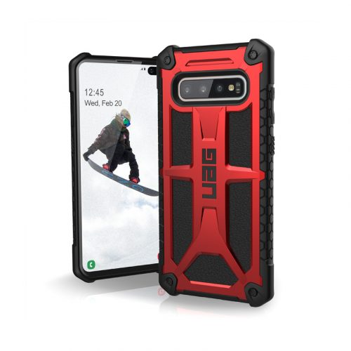 Op lung Samsung Galaxy S10 Plus UAG Monarch Series Crimson 01 bengovn