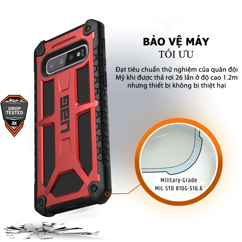 Op lung Samsung Galaxy S10 Plus UAG Monarch Series 03 bengovn