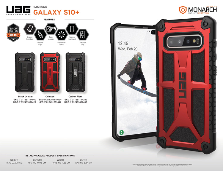 Op lung Samsung Galaxy S10 Plus UAG Monarch Series 05 bengovn