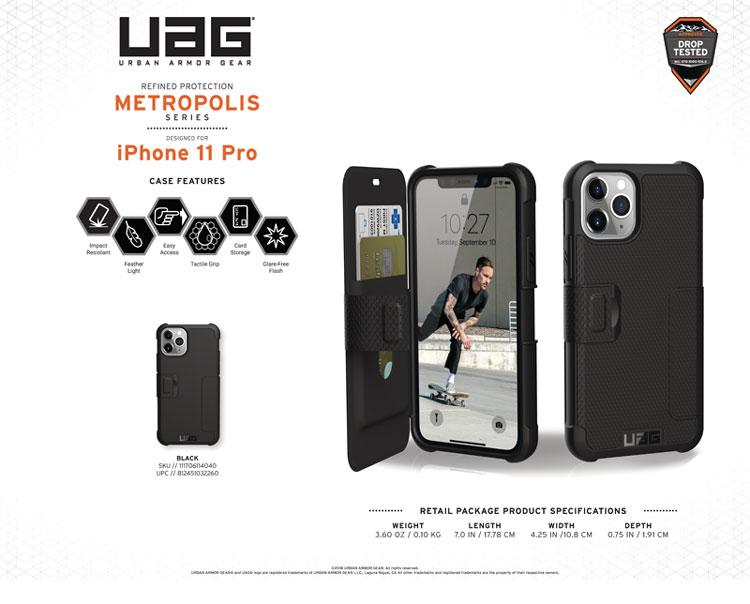 Bao da iPhone 11 Pro Max UAG Metropolis Series 13 bengovn