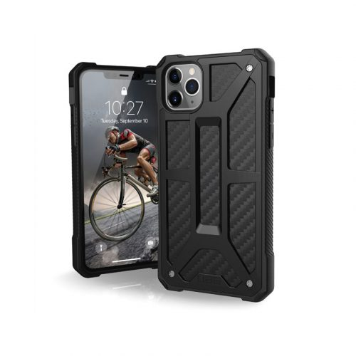 Op lung iPhone 11 Pro UAG Monarch Series CARBON FIBER 01 bengovn