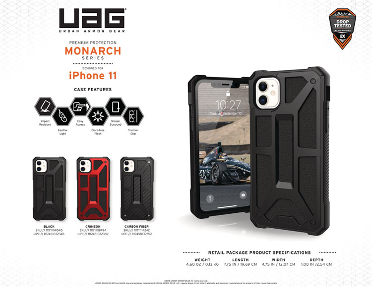 Op lung iPhone 11 UAG Monarch Series CRIMSON 12 bengovn