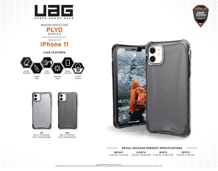 Op lung iPhone 11 UAG Plyo Series Ice 11 bengovn