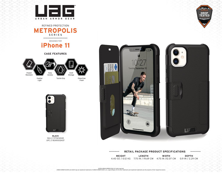 Bao da iPhone 11 UAG Metropolis Series 08 bengovn