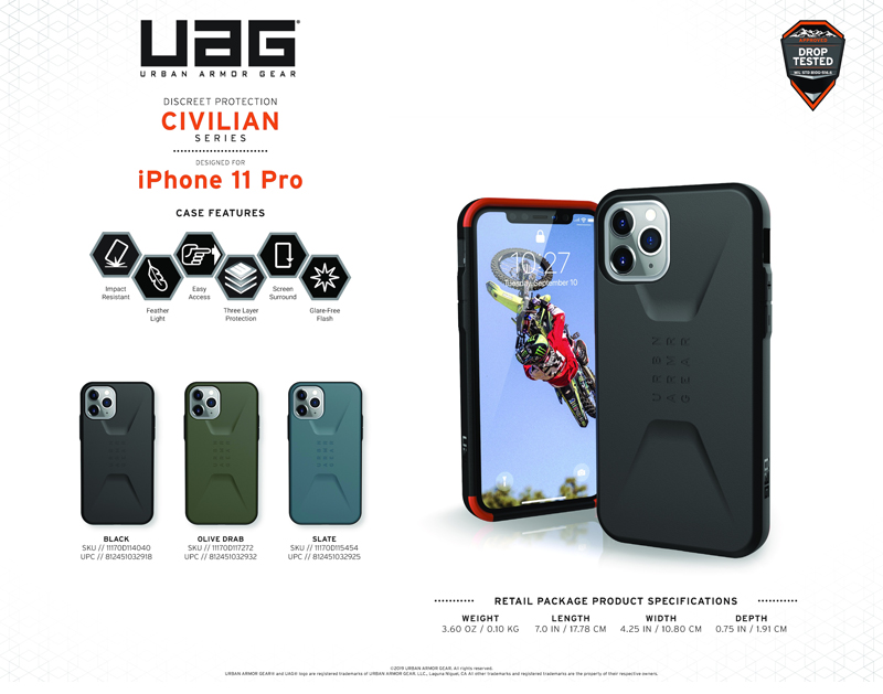 Op lung iPhone 11 Pro UAG Civilian Series 01 bengovn