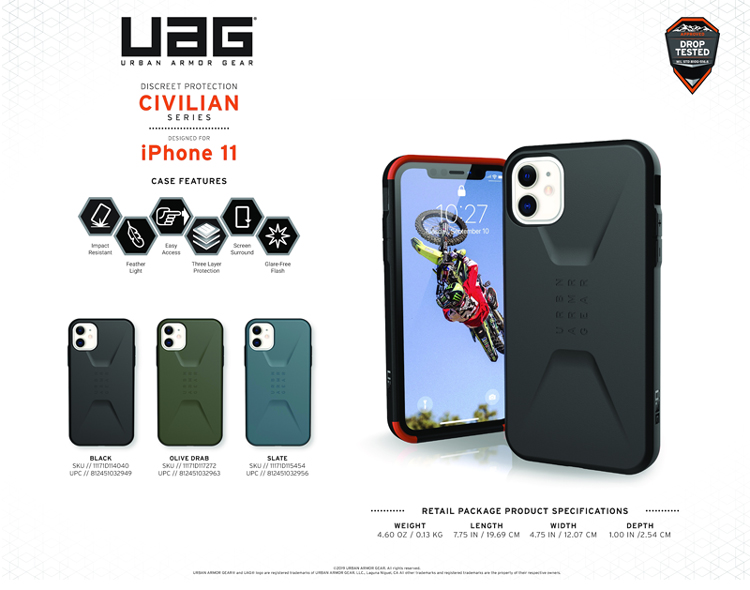 Op lung iPhone 11 UAG Civilian Series 01 bengovn