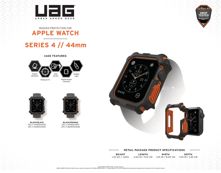 Op Apple Watch Series 4 5 UAG WATCH CASE 44mm 15 bengovn