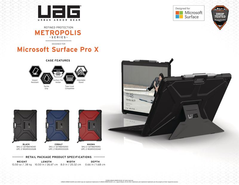 Op lung Microsoft Surface Pro X UAG Metropolis 20 bengovn