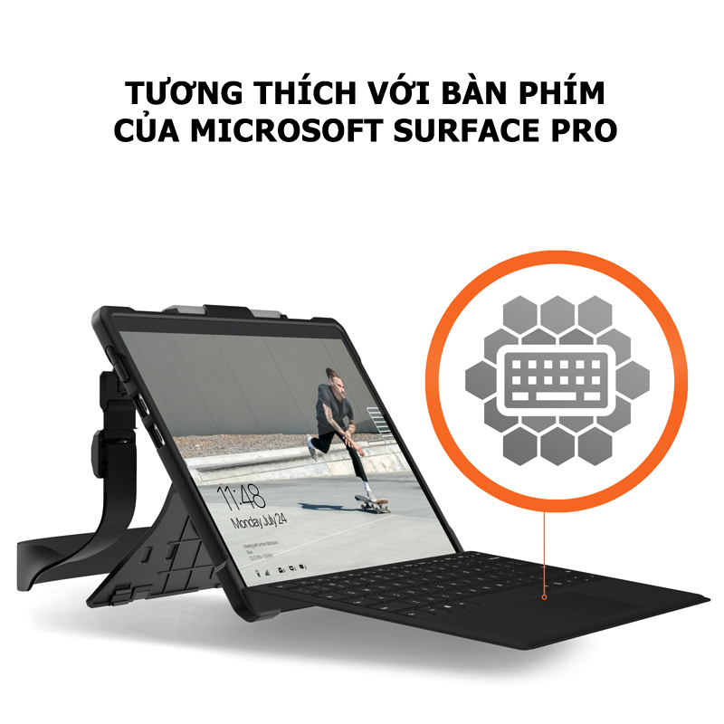 Op lung Microsoft Surface Pro X UAG Plasma co day deo vai va tay 13 bengovn