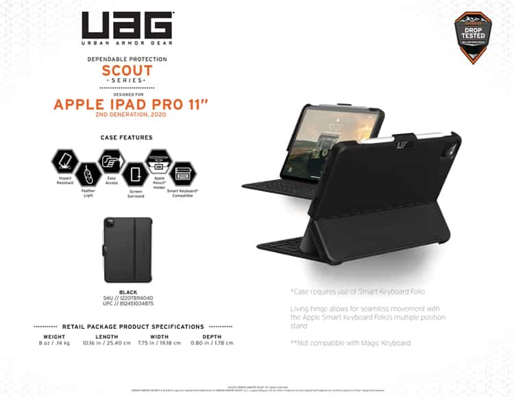 Op lung iPad Pro 11 2nd Gen 2020 UAG Scout Series 18 bengovn