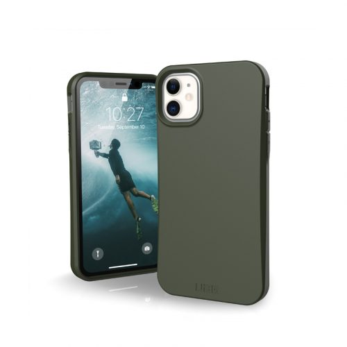 op lung iphone 11 uag biodegradable outback olive bengovn