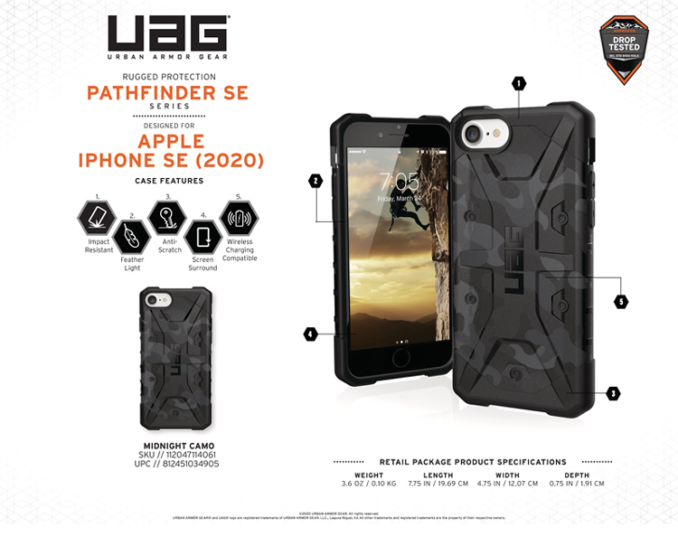 Op lung iPhone SE 2020 UAG Pathfinder SE Camo 13 bengovn tiki