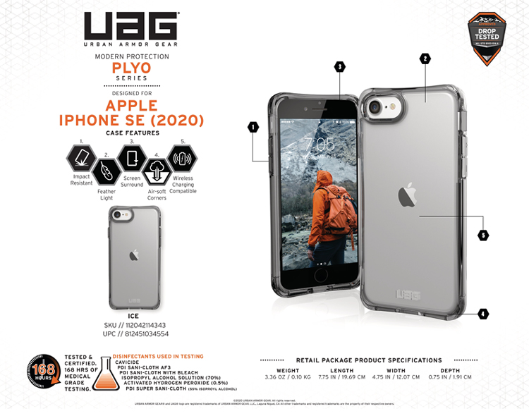 Op lung iPhone SE 2020 UAG Plyo 13 bengovn