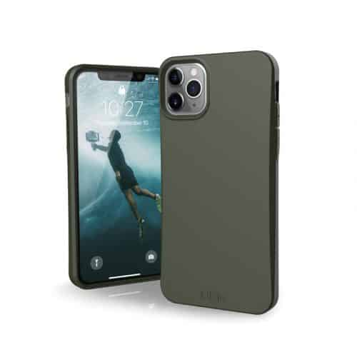 op lung iphone 11 pro max uag biodegradable outblack olive bengovn
