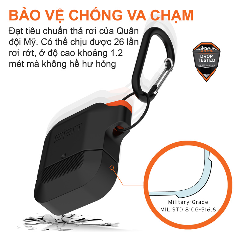 vo op airpods uag silicone rugged weatherproof1 bengovn
