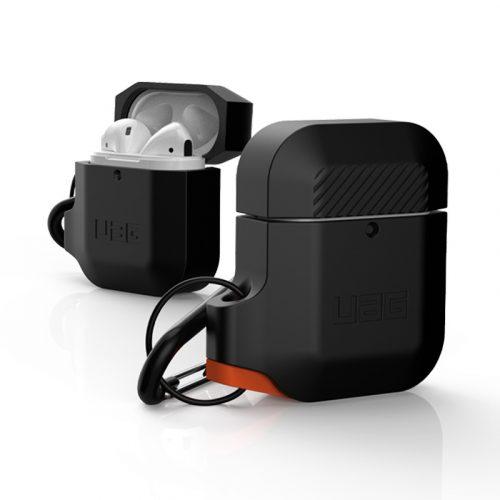 vo op airpods uag silicone rugged weatherproof black orange4 bengovn