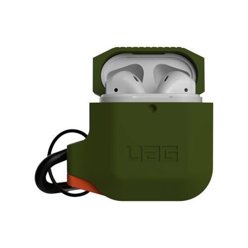 vo op airpods uag silicone rugged weatherproof olive drab bengovn