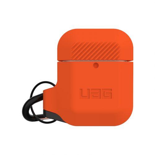 vo op airpods uag silicone rugged weatherproof orange1 bengovn