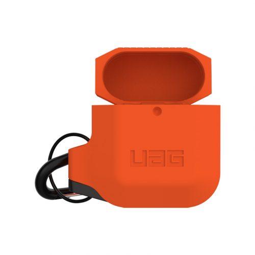 vo op airpods uag silicone rugged weatherproof orange2 bengovn