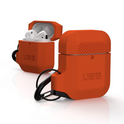 vo op airpods uag silicone rugged weatherproof orange4 bengovn