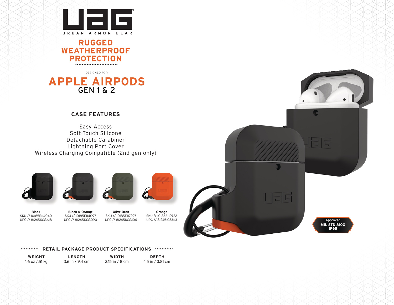 vo op airpods uag silicone rugged weatherproof bengovn1