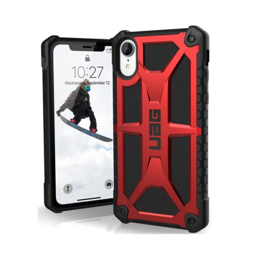 Op lung iPhone XR UAG Monarch Series Crimson 01 bengovn