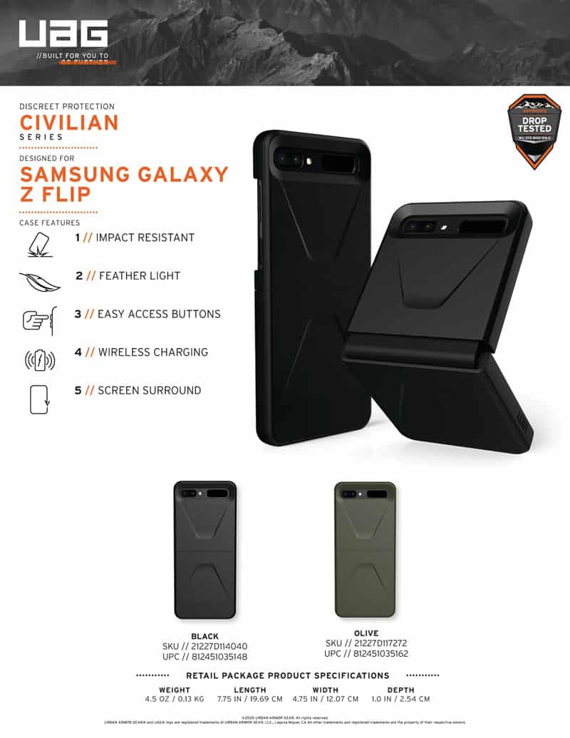 SAMSUNG Z FLIP CIVILIAN SELL SHEET 033020 ENGLISH