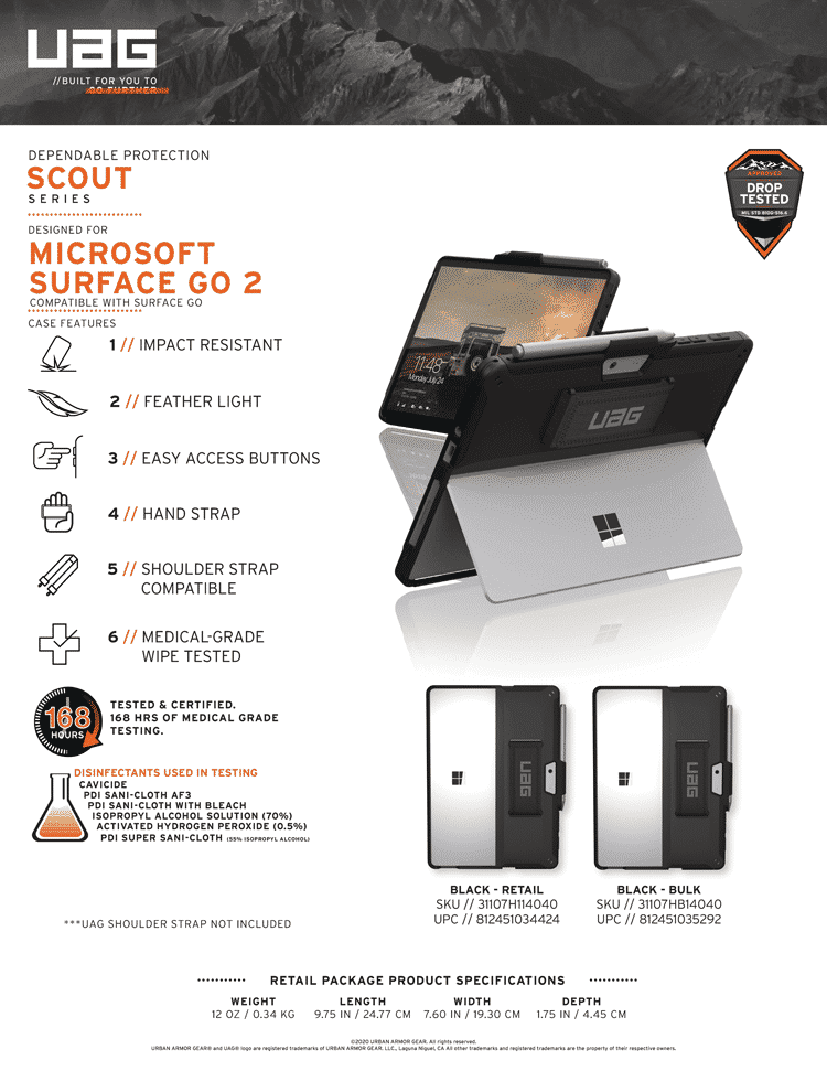 Op lung Microsoft Surface Go 2 UAG Scout With Handstrap 19 bengovn