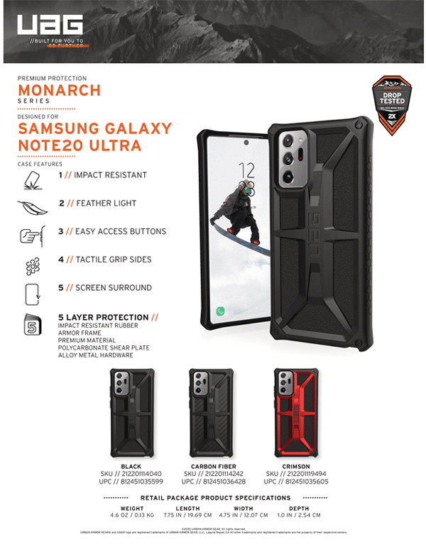 Op lung Samsung Galaxy Note 20 Ultra UAG Monarch Series 24 bengovn