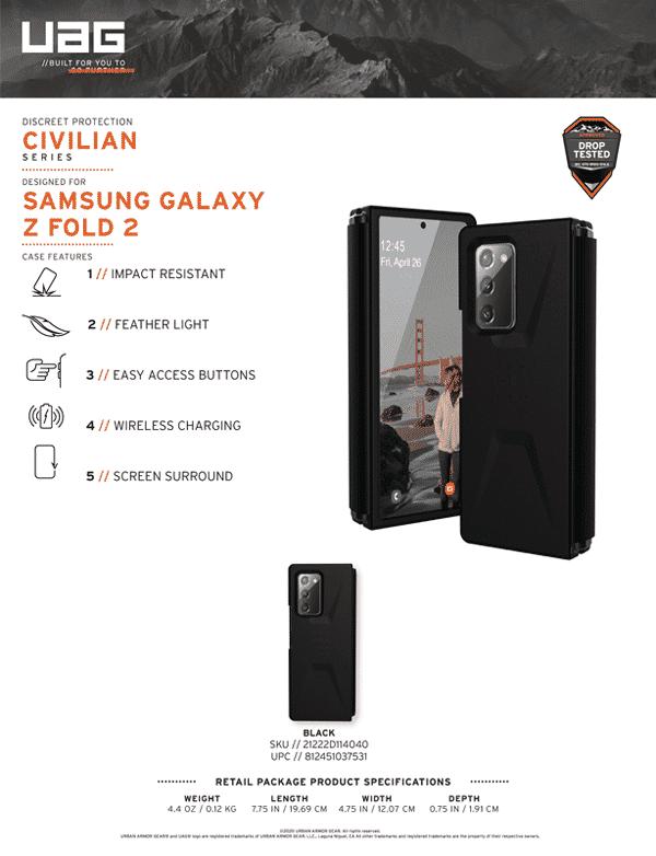 Op lung Samsung Galaxy Fold2 5G UAG Civilian Series 18 bengovn