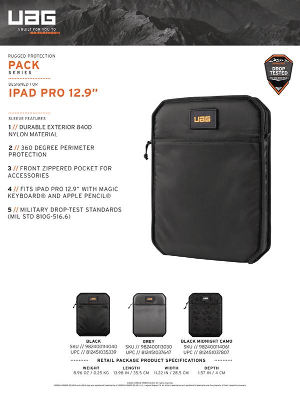 Tui chong soc UAG Shock Sleeve Lite cho iPad Pro 12 9 2020 21 Bengovn