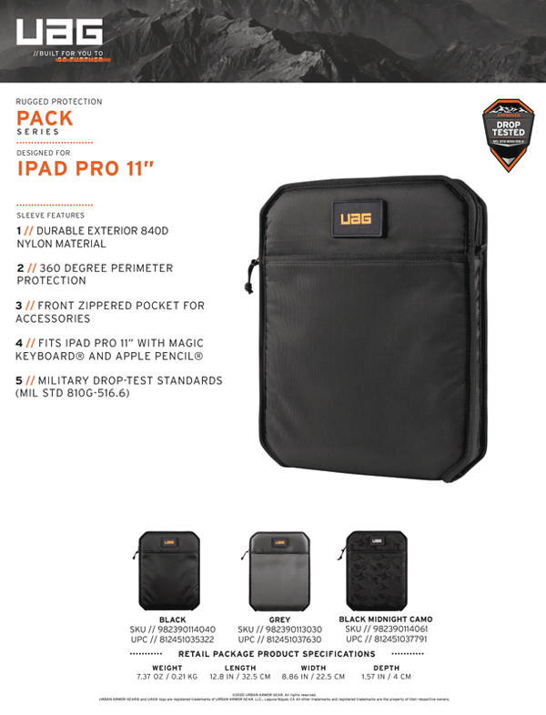 Tui chong soc UAG Shock Sleeve Lite cho iPad Pro 11 2020 21 Bengovn1