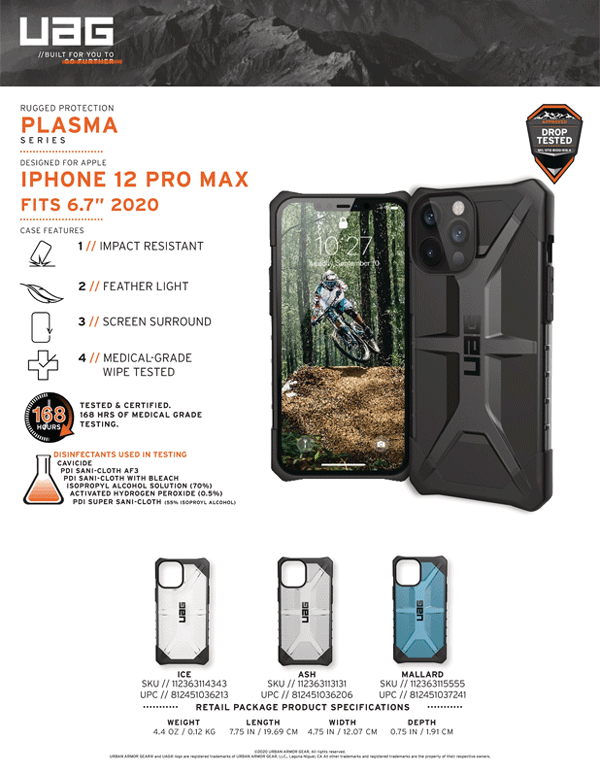Op lung iPhone 12 Pro Max UAG Plasma Series 01 Bengovn