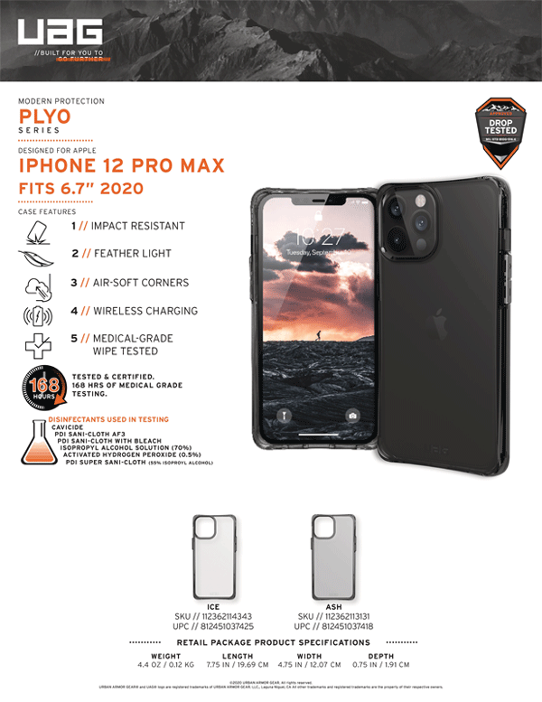 Op lung iPhone 12 Pro Max UAG Plyo Series 01 Bengovn