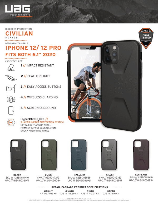 Op lung iPhone 12 12 Pro UAG Civilian Series 30 Bengovn