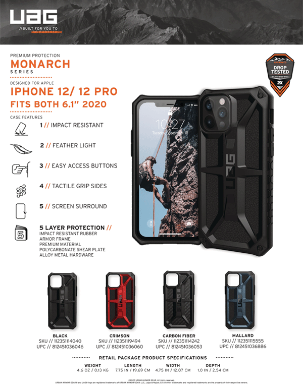 Op lung iPhone 12 12 Pro UAG Monarch Series 25 bengovn