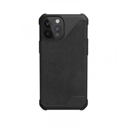 Op lung iPhone 12 12 Pro UAG Metropolis LT Series LTHR Black 07 bengovn