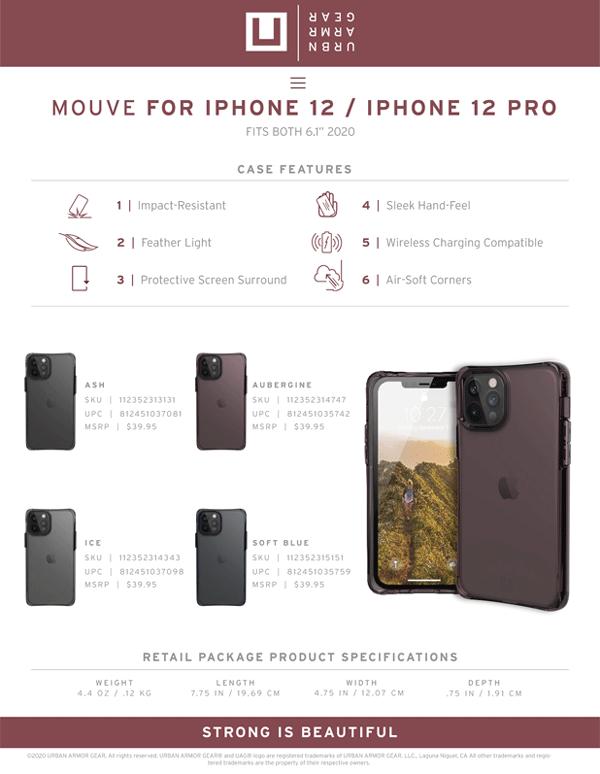 Op lung iPhone 12 12 Pro UAG U Mouve Series 23 bengovn