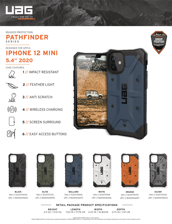Op lung iPhone 12 Mini UAG Pathfinder Series 36 Bengovn