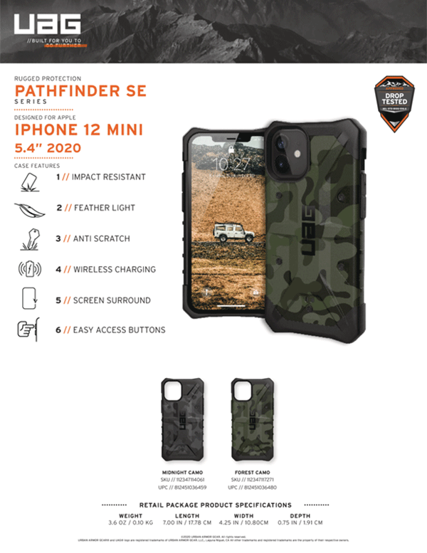 Op lung iPhone 12 Mini UAG Pathfinder SE Series 14 Bengovn