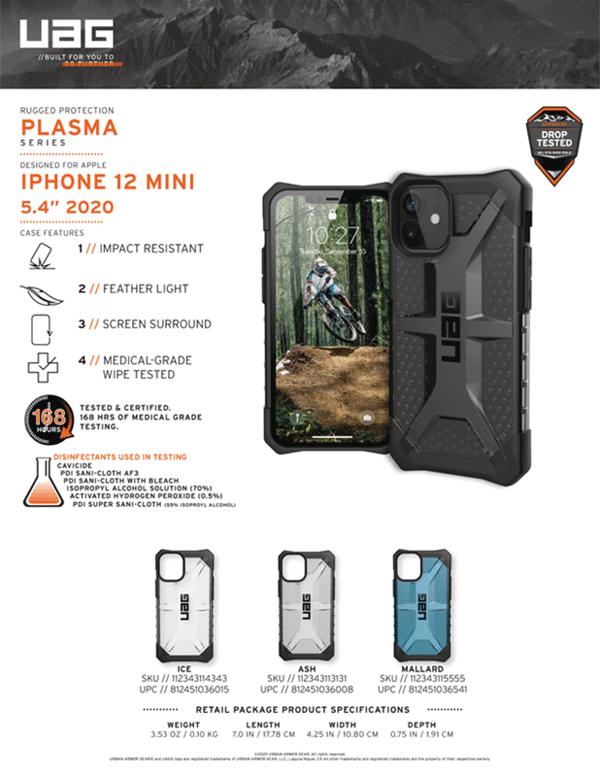 Op lung iPhone 12 Mini UAG Plasma Series 21 Bengovn