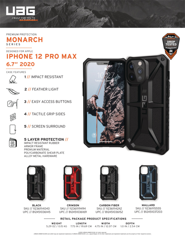 Op lung iPhone 12 Pro Max UAG Monarch Series 25 bengovn