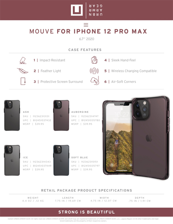 Op lung iPhone 12 Pro Max UAG U Mouve Series 23 bengovn