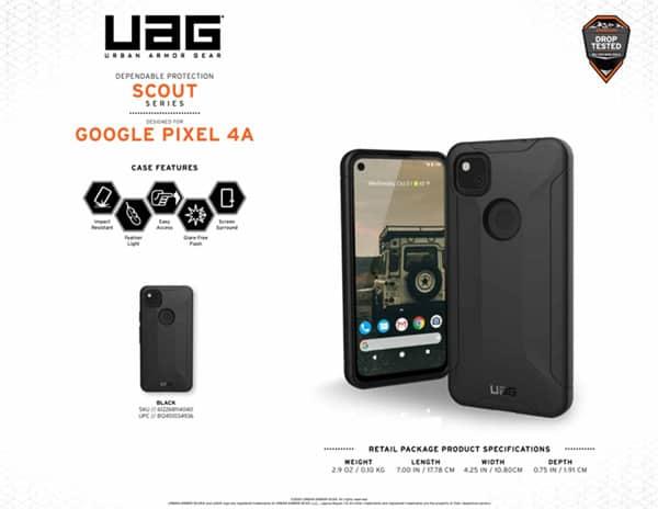 Op lung Google Pixel 4A UAG Scout 15 bengovn