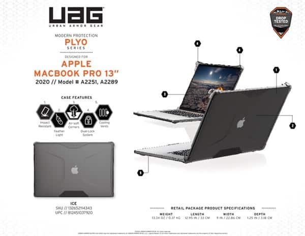 Vo op bao ve Macbook Pro 13 2020 UAG Plyo 18 bengovn