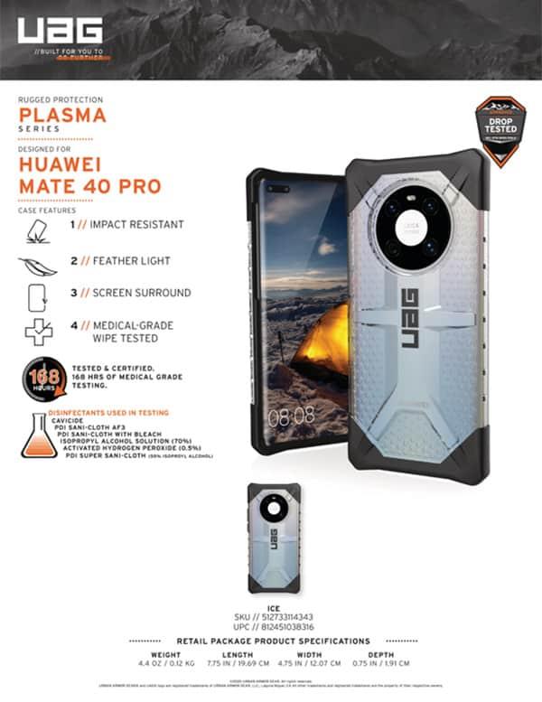 Op lung Huawei Mate 40 Pro UAG Plasma 13 bengovn