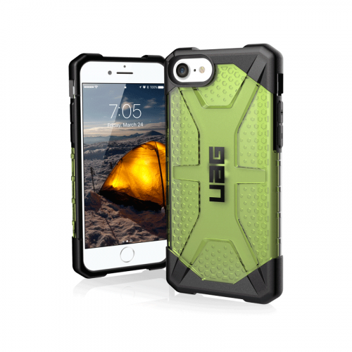 Op lung iPhone SE 2020 UAG Plasma Series Neon 01 bengovn